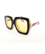 GUCCI Woman's Sunglasses GG0088S 003 Avana/Yellow 55-21-140 MADE IN ITAL... - $299.95