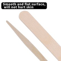 Senkary 500 Pieces Wooden Wax Sticks Waxing Sticks Wood Wax Applicator Sticks fo image 3