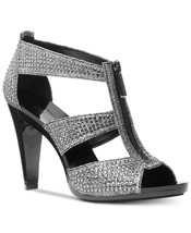 Michael Kors MK Women's Berkley T-Strap Glitter Chain Mesh Dress Sandals Shoes image 1