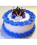 """Dezicakes Large Fake Cake- Red White Blue 4th July Cake Display 9"""" Faux ... - €30,96 EUR"""