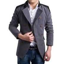 High Quality Cotton British Style Trench Coat Men Long Sleeve Jacket Dou... - $66.10