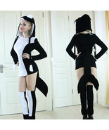 Black Dolphin Shark Sexy Women Halloween Christmas Party Costume - $43.59