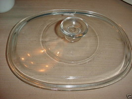 PYREX CLEAR GLASS OVAL LID F-12-C EXCELLENT CONDITION FREE USA SHIPPING - $20.56