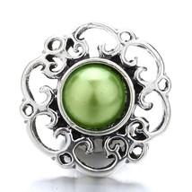 5Pcs/lot Snap Jewelry 18mm Metal Snaps Button Snap Bracelet Women's Fash... - $8.84