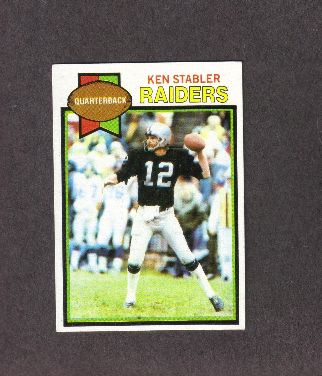 1979 Topps # 520 Ken Stabler Oakland Raiders Bonanza