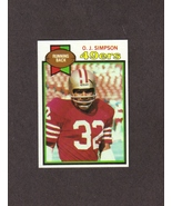 1979 Topps # 170 O.J. Simpson San Francisco 49ers NM - $1.50