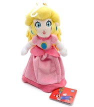 Nintendo Super Mario Brothers Princess Peach 8 Inch Tall Plush Brand NEW! - $19.99