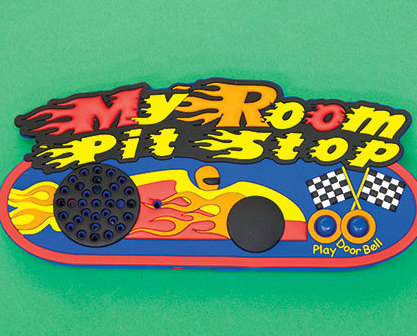 Kids' Room Recordable Doorbells Race  Cars