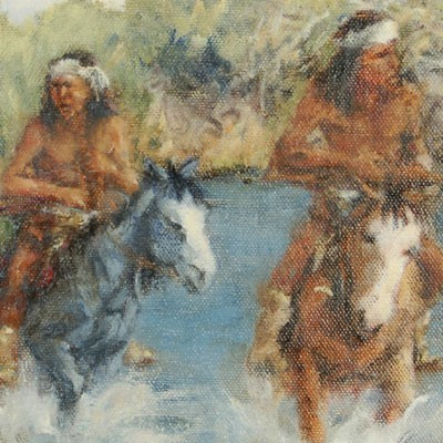 Out Of Bounds Southwest Indian Painting Limited Edition Giclee Print