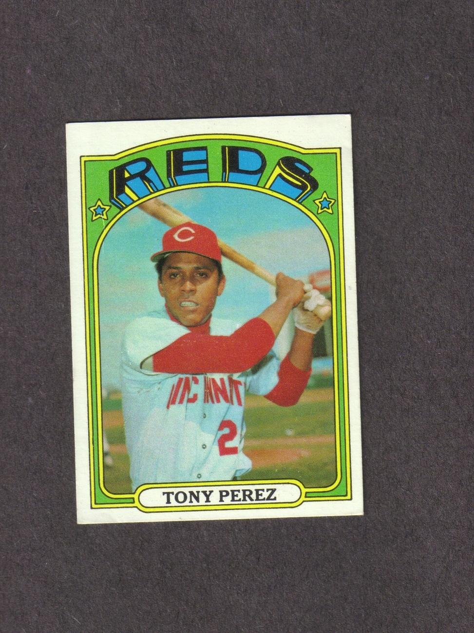 1972 Topps # 80 Tony Perez Cincinnati Reds Bonanza