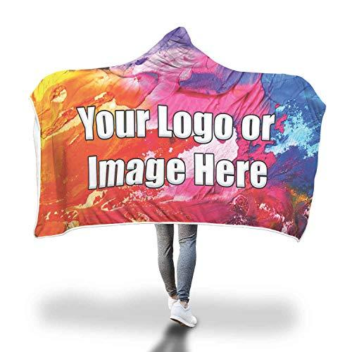 Custom Hooded Blanket Add Your own Design or Logo Business or Personal use