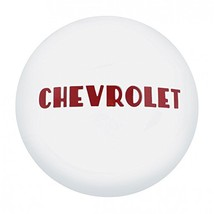 United Pacific Polished Stainless Steel Hub Cap w/Red Letters for 1947-53 Chevy  - $71.69