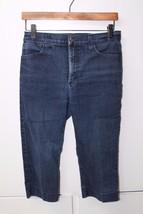 W11455 Womens NOT YOUR DAUGHTERS JEANS Blue Denim Stretch Crop Capri Jea... - $17.35