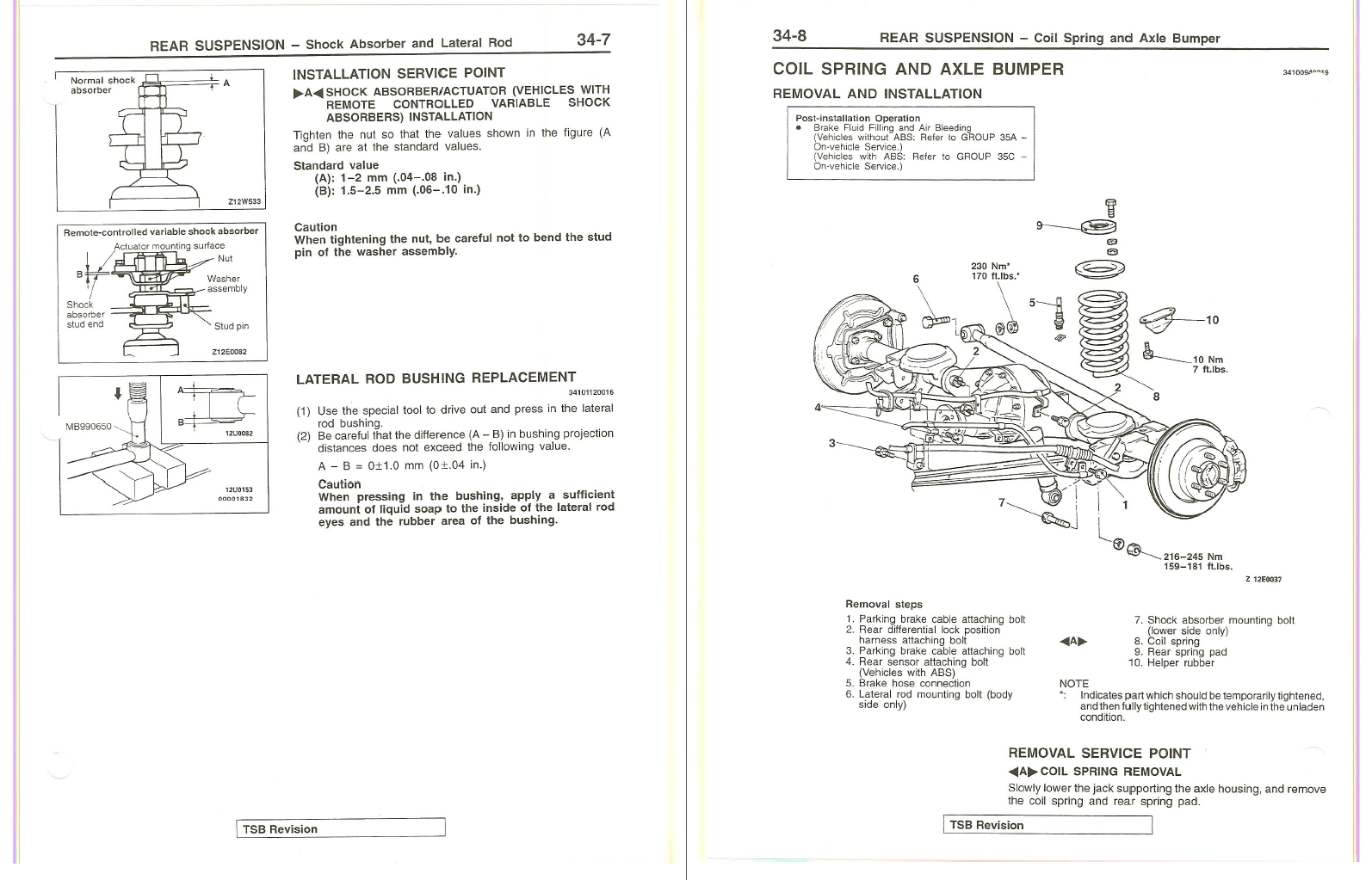 1998 Mitsubishi Montero Factory Repair Service Manual MSSP-004B-98