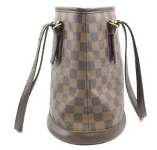 #31746 Louis Vuitton Bucket Marais Hobo Pm Tote Damier Ébène Canvas Shoulder Bag image 7