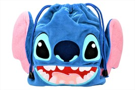"Disney Stitch Soft Plush Drawstring Gift Lunch/Cosmetic Pouch 9.5"" x 8"" ... - $17.35"