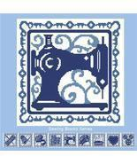 Sewing Block: Sewing Machine sewing block series cross stitch chart Pino... - £3.34 GBP