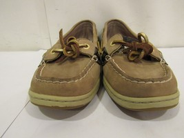 Sperry Topsider Boat Dock Shoes women's 7.5 M Leather Casual Tan Animal ... - $37.04