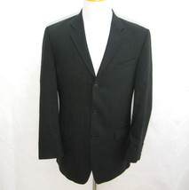 CALVIN KLEIN Mens Dark Gray 3 Button Wool Blazer Sports Coat (Size 38L) Jacket - $29.95