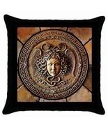 Madusa Snake Greek Mythology New Throw Pillow Case BLK - $12.69