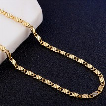 Modyle 2mm Gold silver necklace Unisex Flat snake Link Chain Lobster Clasp colla - $9.60