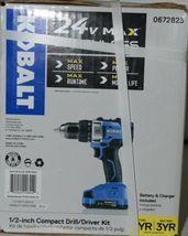 Kobalt 0672823 24v Max Brushless Compact Drill Driver Kit Cordless New in Box image 4