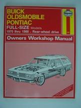 Buick, Oldsmobile, Pontiac Full-Size Models (RWD) Repair Manual 1970-1988 #1551 - $12.86