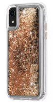 Case-Mate iPhone X Xs Gold Waterfall Clear Plastic Protective Phone Case NEW image 2