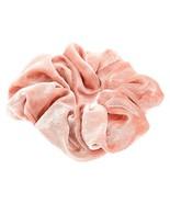 Claire's Girl's Large Velvet Hair Scrunchie - Blush Pink - $6.21