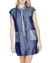 Guess Women's Denim Sleeveless Colorblock Casual Dress Small - $53.46