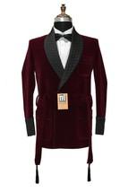 Men Burgundy Smoking Jackets Elegant Designer Wedding Party Wear Blazer ... - $170.78