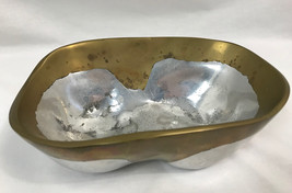 Vintage Mixed Hammered Dual Metal Bowl, Hallmarked dh - $28.49