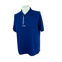 Oakley Men's Regular Fit Short Sleeve Navy Blue Golf Polo Polyester Shir... - $22.11