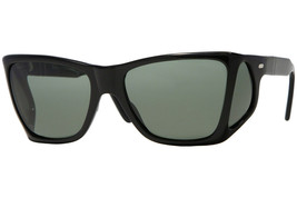 Persol PO0009  95/31 Black Frame Green Lens Sunglasses Authentic 57mm - $231.83