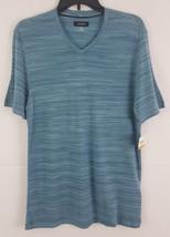 Alfani Men's V-Neck Space-Dyed T-Shirt Mallard 16605TEE - $9.99