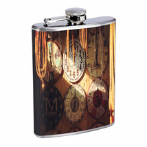 Clocks Em1 Flask 8oz Stainless Steel Hip Drinking Whiskey - $13.81