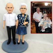 HANDMADE CRAFTED Mini Toy Figure polymer clay figurine sculpture dolls b... - $148.00