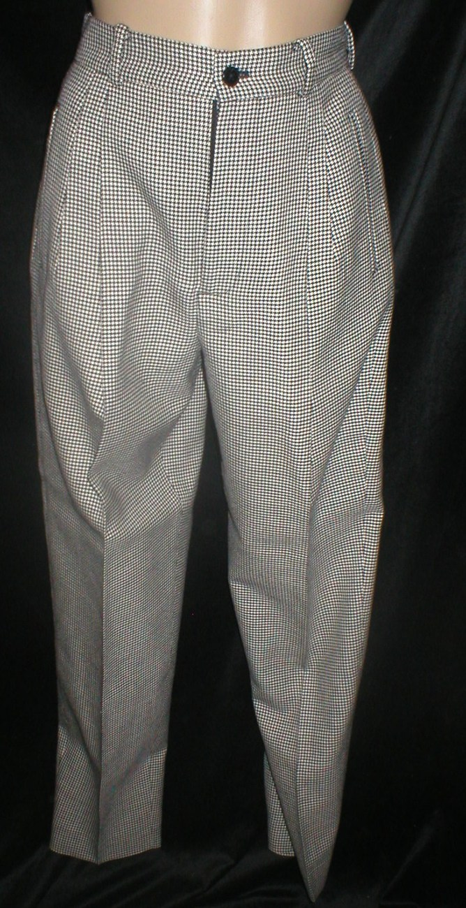 Banana Republic Black & White herringbone career pants 2