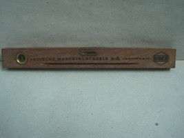 Antique small Level Carpenter Tool advertising Badische Maschinenfabrick... - $19.40
