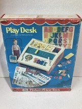 Vintage 1970's Fisher Price School Days Play Desk Toy Chalk Board Set - $19.80