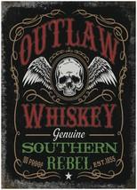Outlaw Whisky Bar Pub Man Cave Cicleta Caseta Anuncio Imán Nevera - $3.34