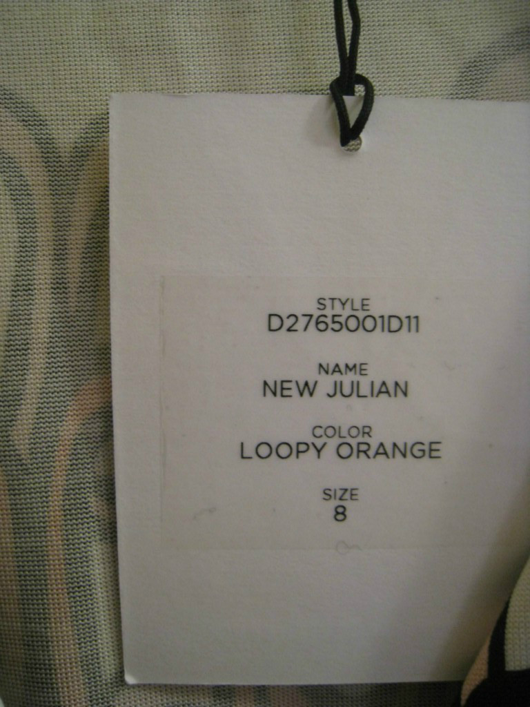 DIANE von FURSTENBERG Julian Loopy Orange Wrap Dress size 8