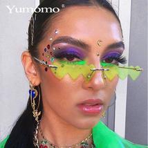 Heart Shaped Sunglasses women metal Women Brand Designer Fashion Rimless LOVE Cl image 2