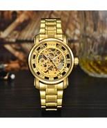 MCE Branded Luxury Automatic Waterproof Stainless Steel Gold Skeleton Me... - $36.13