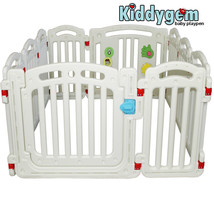 Extra Tall Baby Playpen (10 panels) White Playard 15.5 sq.ft with 2 larg... - $191.20