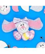 Bunny Rabbit with Eggs Lapel Pin Craft Kit  Wood and Felt  3 Kits - $2.45