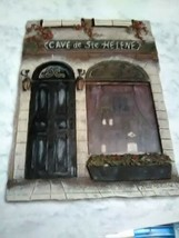 "CAFE de Ste. HELENE CERAMIC WALL PLAQUE 5"" X 7"" KATE McROSTIE - $4.99"