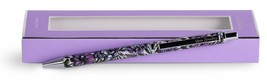 Vera Bradley Black Ink Medal Click Ballpoint Pen Lavender Meadow New in ... - $16.20