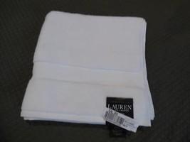 "$27.00 Lauren Ralph Lauren Wescott bath towel 30"" x 56"", Sailcloth White - $7.87"