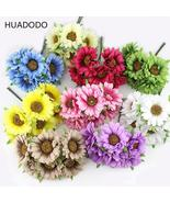 HUADODO 6pcs Daisy Artificial flower silk sunflower bouquet for Wedding ... - $1.96